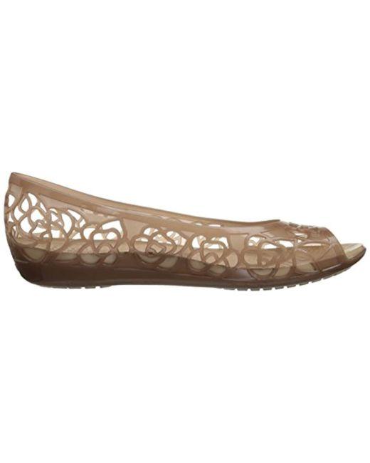 2d6609a21570 ... Crocs™ - Metallic Isabella Jelly Flat Ballet - Lyst ...