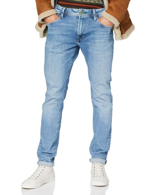 Pepe Jeans Blue Stanley Straight Jeans for men