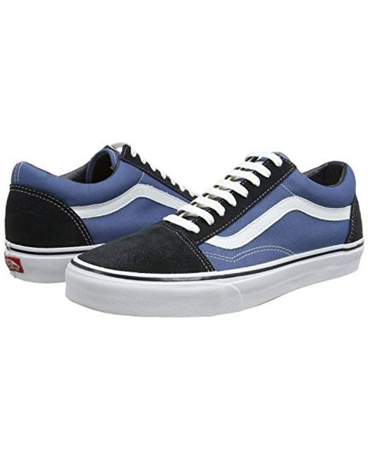 13612a01a87168 ... Vans - Blue Unisex Adults  Old Skool Classic Suede canvas Sneakers for  Men ...
