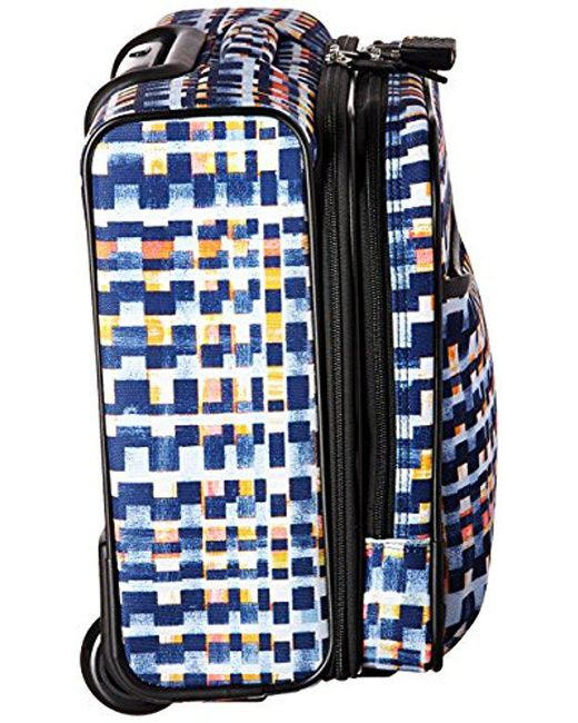 fcd312249c14 ... Vera Bradley - Blue Iconic Rolling Work Bag