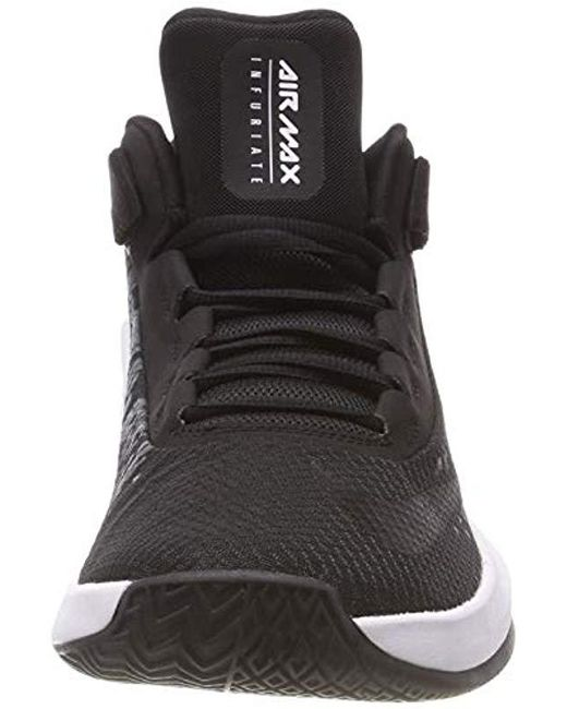 0561411b2628d Nike Air Max Infuriate 2 Mid Fitness Shoes in Black for Men - Save ...