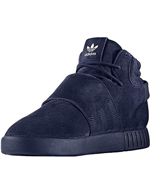 low priced 14662 188c4 Women's Blue Tubular Invader Strap Shoes