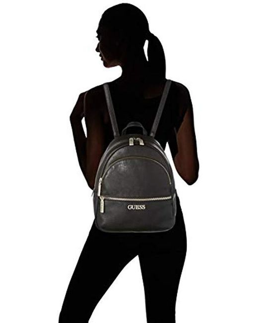 Guess Manhattan Backpack in Black Lyst
