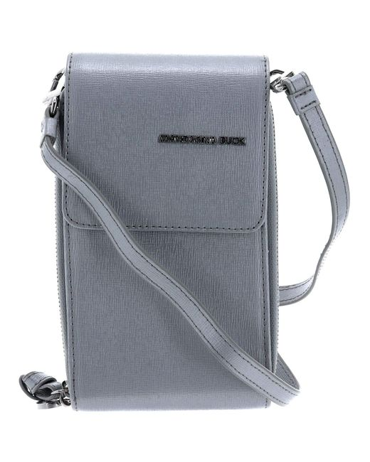 Essential Vertical CC Holder Silver di Mandarina Duck in Metallic da Uomo