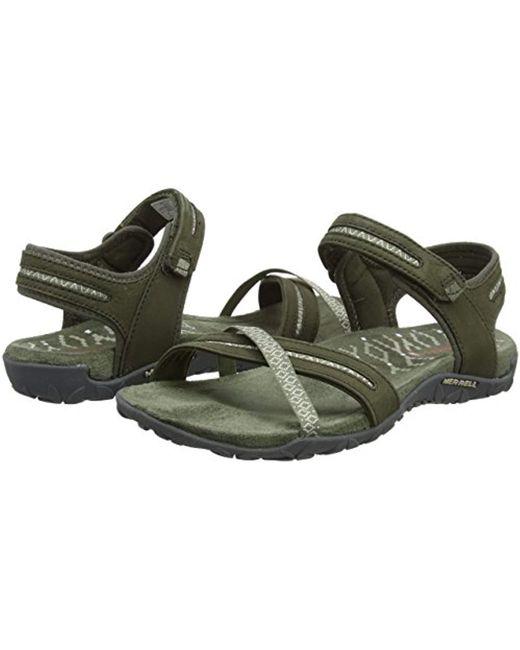 2ddf527c32eb Merrell Terran Cross Ii Ankle Strap Sandals in Green - Save 23% - Lyst