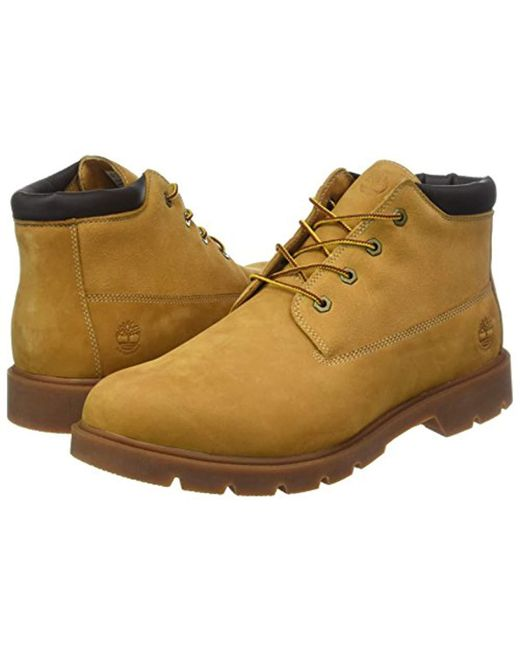 Timberland Leather 6 In Basic Chukka Boots in Natural for
