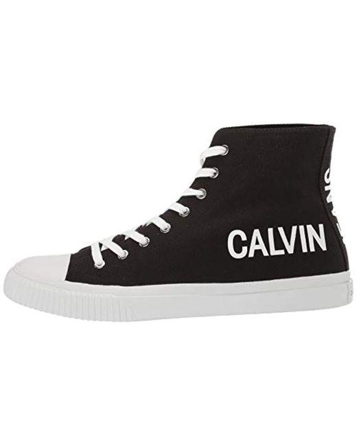 half off 71c95 27b2f Calvin Klein Denim Iacopo Sneaker in Black for Men - Save 1 ...