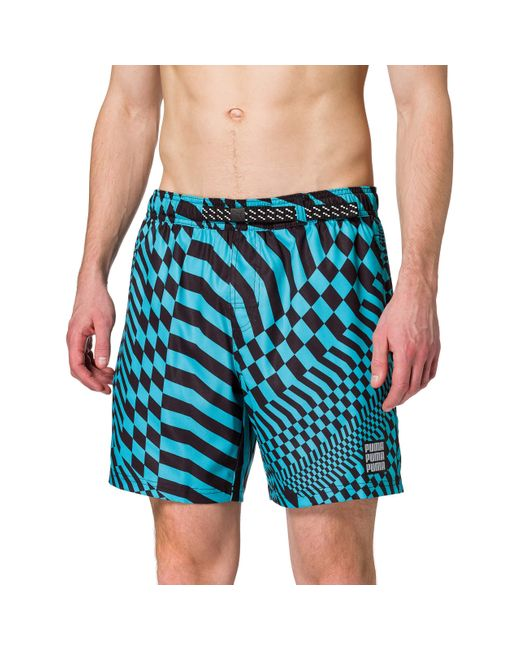 Swim PsyGeo All-Over-Print Mid Swimming Shorts Natation PUMA pour ...