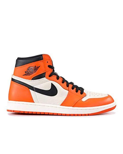 34b2bcfb7e021 Nike Air 1 Retro High Og in Orange for Men - Lyst