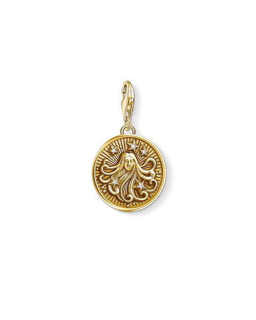 S s-Charm-Pendentif Signe Zodiacal Vierge Charm Club Argent Sterling 925 plaqué or jaune 18 carats 1657-414-39 Thomas Sabo en coloris Metallic