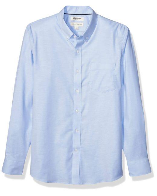 Standard-fit Long-Sleeve Stretch Oxford Shirt Goodthreads pour homme en coloris Blue