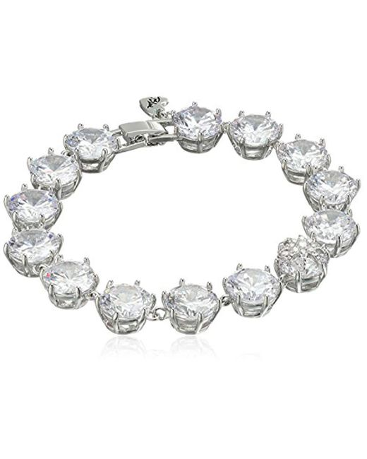 Betsey Johnson - Metallic Betsey Blue Cubic Zirconia Stone Tennis Bracelet - Lyst