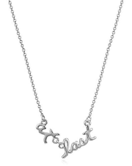 "Kate Spade - Metallic At Last Pendant Necklace, 17"" + 3"" Extender - Lyst"