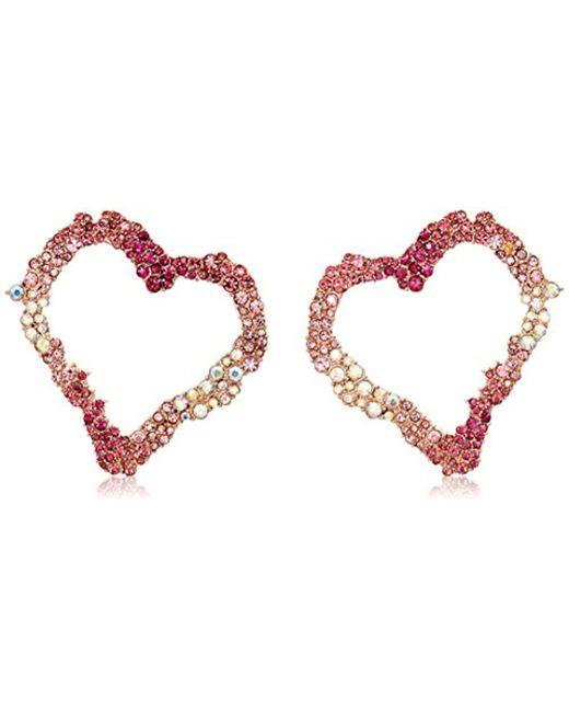 Betsey Johnson - Pink S Open Gypsy Heart Earrings - Lyst