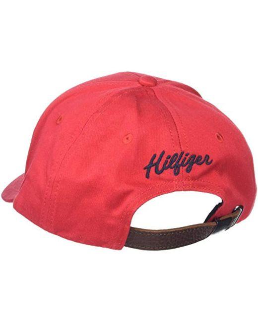 1897432f589 ... Tommy Hilfiger - Red Emery Baseball Cap for Men - Lyst