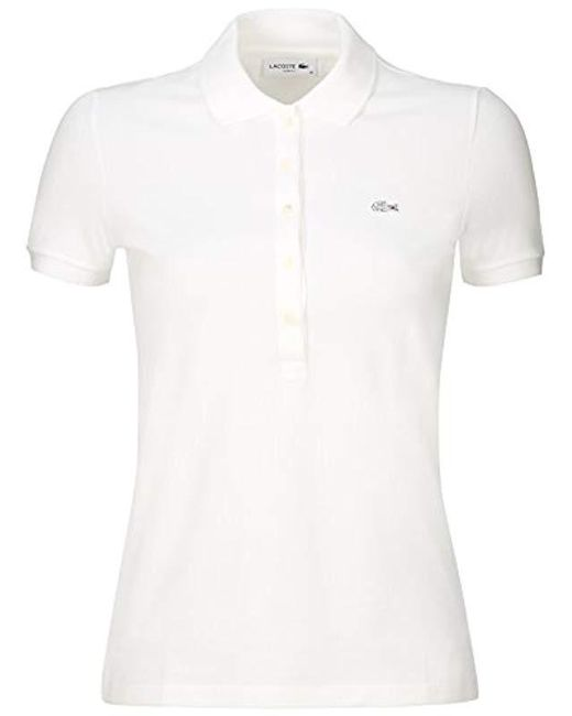 1cad3c61e Lacoste Pf7845 Polo Shirt in White - Save 2.352941176470594% - Lyst