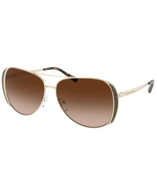 Michael Kors Mk 1082 Gold/brown Shaded 58/13/140 Women Sunglasses