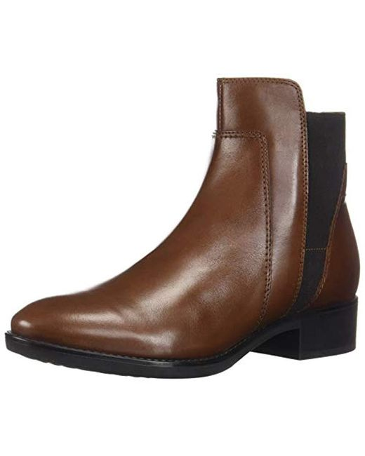 Geox Brown D Felicity F Ankle Boots