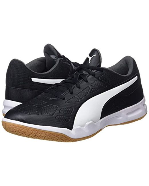 4cb9275453bf8 PUMA Unisex Adults' Tenaz Multisport Indoor Shoes in Black for Men ...