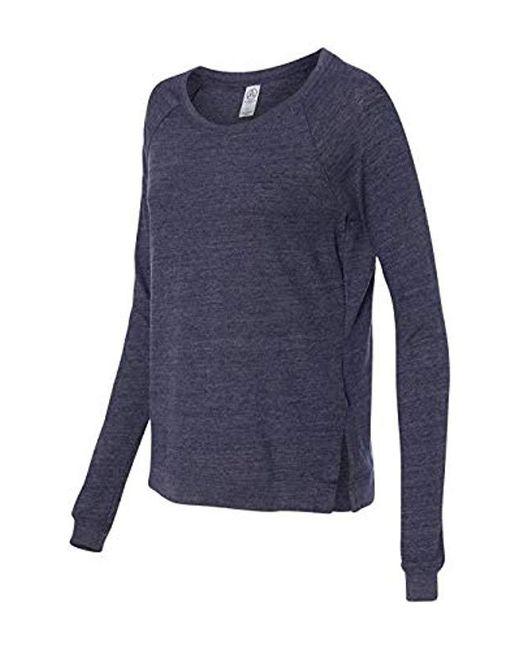 Alternative Apparel Blue Locker Room Pullover Shirt