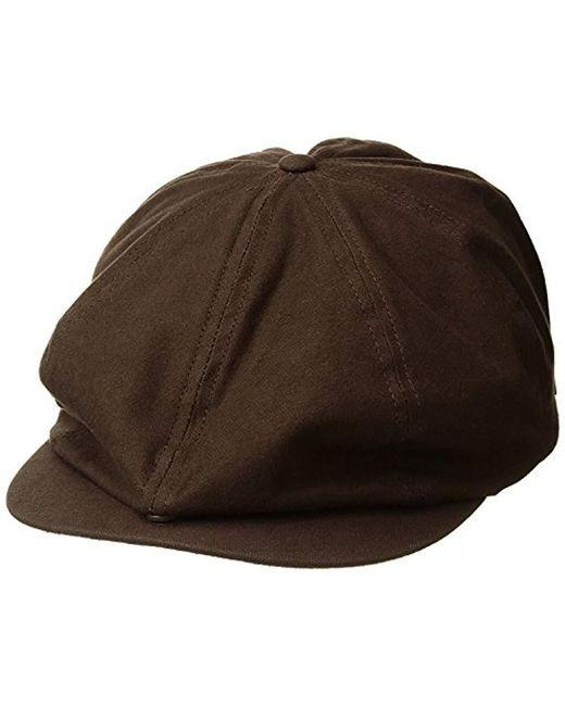 828ab32f738 Brixton - Brown Brood Adjustable Snap Cap (black) Caps for Men - Lyst ...