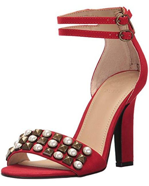 Guess - Red Petunia2 Heeled Sandal - Lyst
