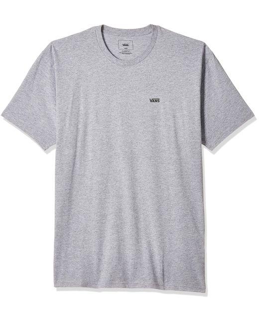 Vans Gray Left Chest Logo Tee T - Shirt for men