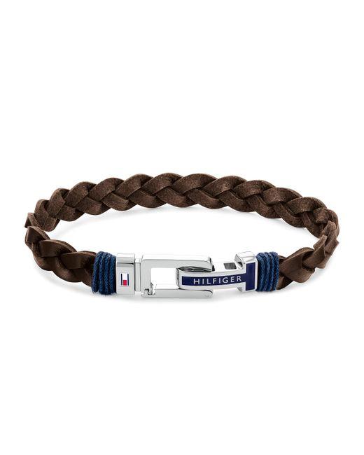Bracelet en cuir pour homme Tommy Hilfiger pour homme en coloris Brown