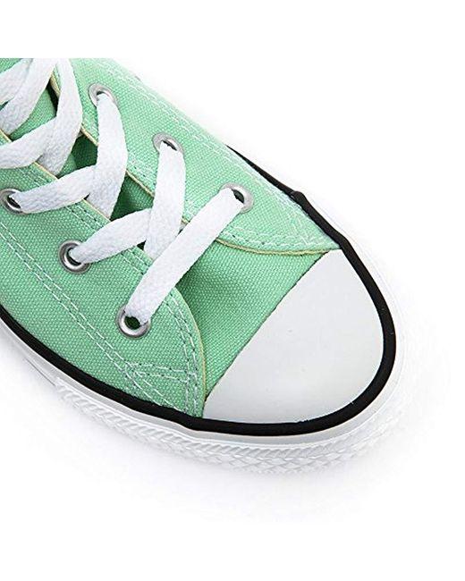 zapatillas tipo converse verde