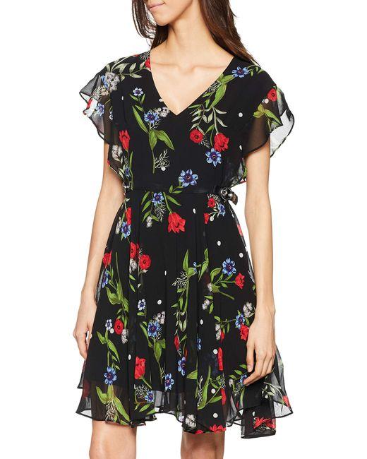 Vera Dress, Vestito Donna, Multicolore (Casual Dots And Flow P98t), Small (Taglia Produttore:S) di Guess in Black