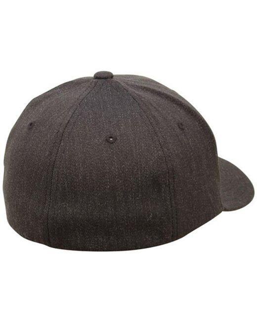 ... Nixon - Black Deep Down Ff Athletic Fit Hat for Men - Lyst 9ec071f23c8c