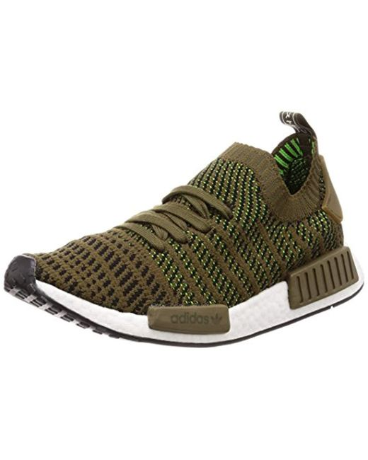 low cost 9b624 da55e Men's Green Nmd_r1 Stlt Primeknit Trainers