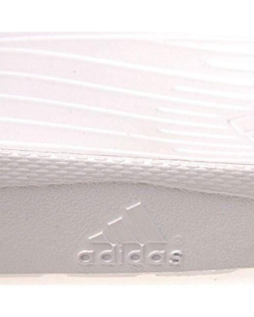 Adidas Duramo Slide, unisex adultos' Beach & Pool Lyst zapatos en blanco