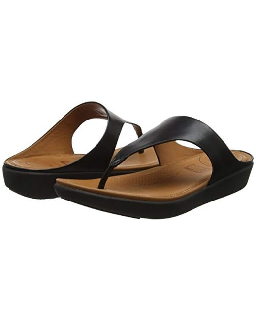dcb3306a9 ... Fitflop - Black Banda Ii Toe-thong Sandals-leather Open - Lyst ...
