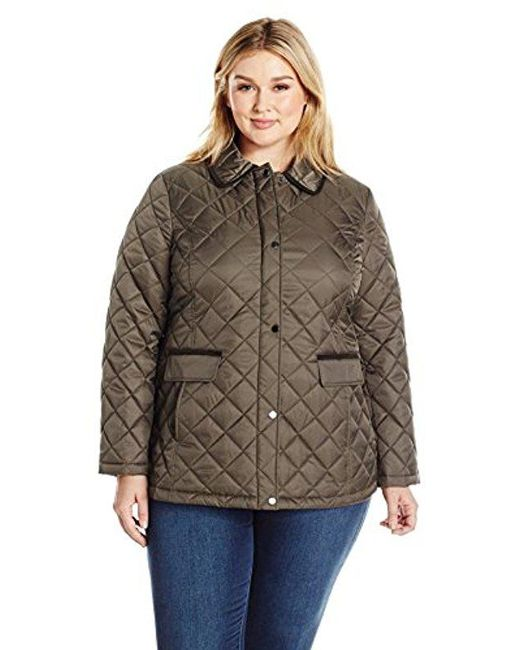 Lyst Lark Ro Size Quilted Barn Jacket Plus In Green