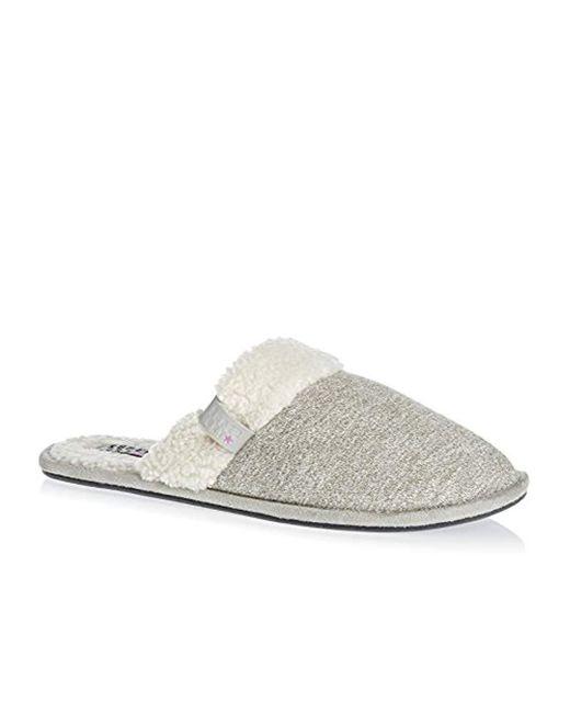 Superdry Gray Marl Mule Slippers Grey
