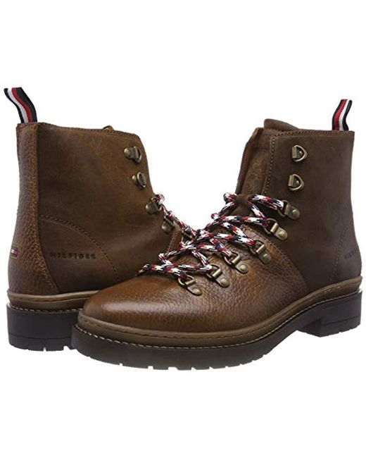 ae30b8fde ... Tommy Hilfiger - Brown Elevated Outdoor Hiking Boot Combat for Men -  Lyst ...