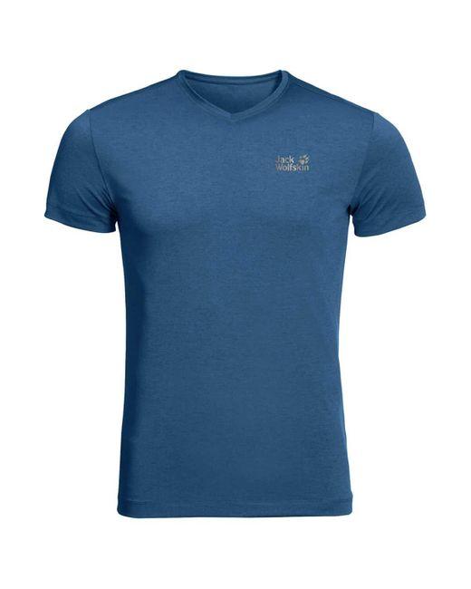 Jack Wolfskin JWP T M T-Shirt in Blue für Herren