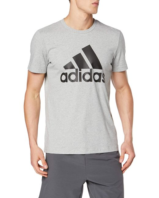 T-shirt Must Haves Badge of Sport Adidas pour homme en coloris Gray