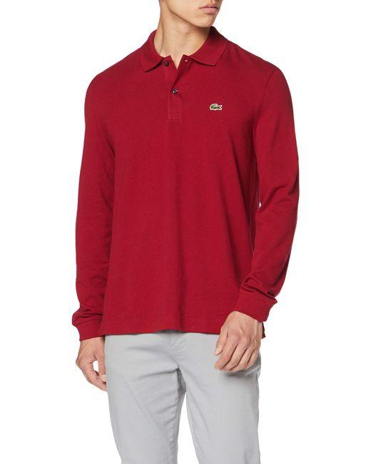 PH4013 Polo Lacoste pour homme en coloris Red