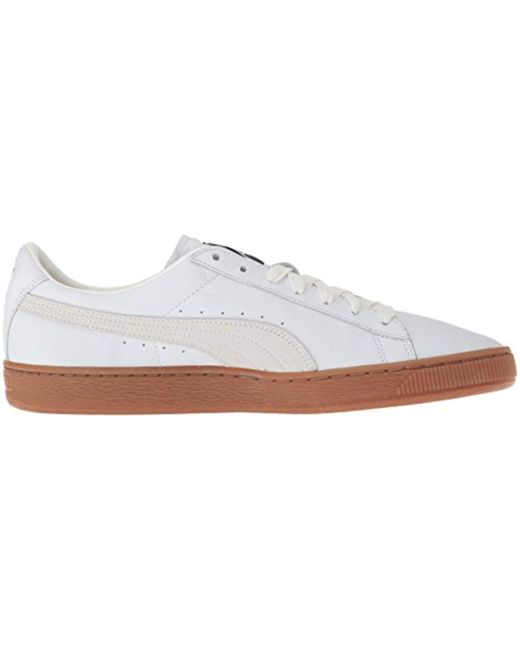 9066878b81ccea ... PUMA - White Basket Classic Gum Deluxe Sneaker for Men - Lyst ...