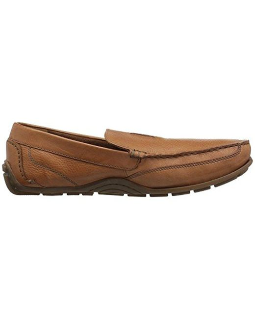 Clarks Benero Edge Men/'s Leather Moc Toe Slip On Driving Moccasins Shoes Tan