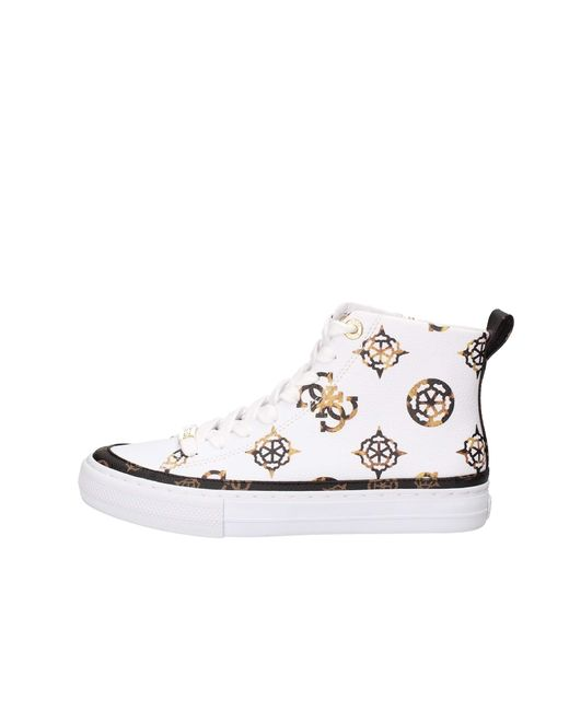 FL8LEKFAL12 White FOOTWEAR MAIN Stivaletti Donna 39 di Guess