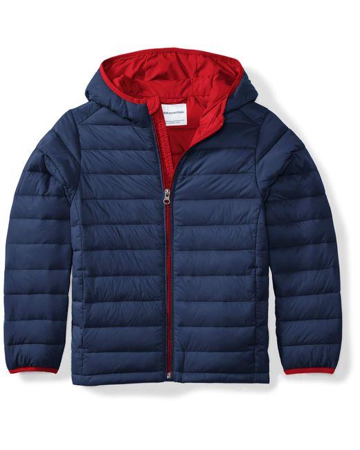 Hooded Puffer Jacket Outerwear-Jackets Amazon Essentials de hombre de color Blue