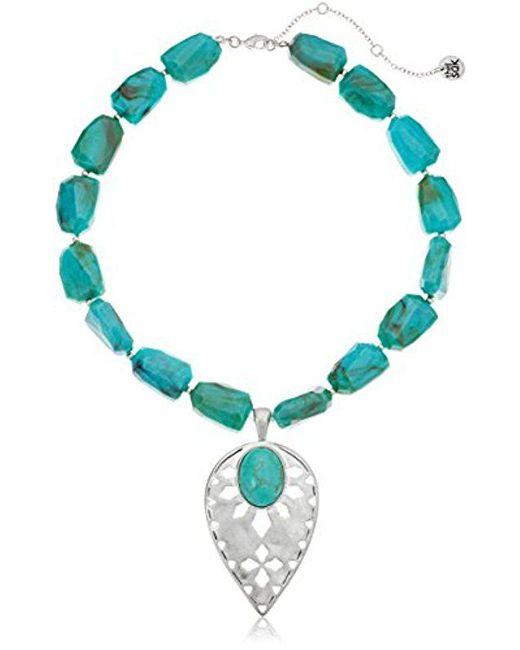 "The Sak - Multicolor Beaded Collar Pendant Necklace, 16"" - Lyst"