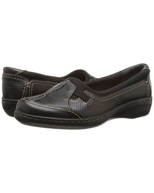 ... Clarks - Black Evianna Fuse Slip-on Shoe - Lyst ...