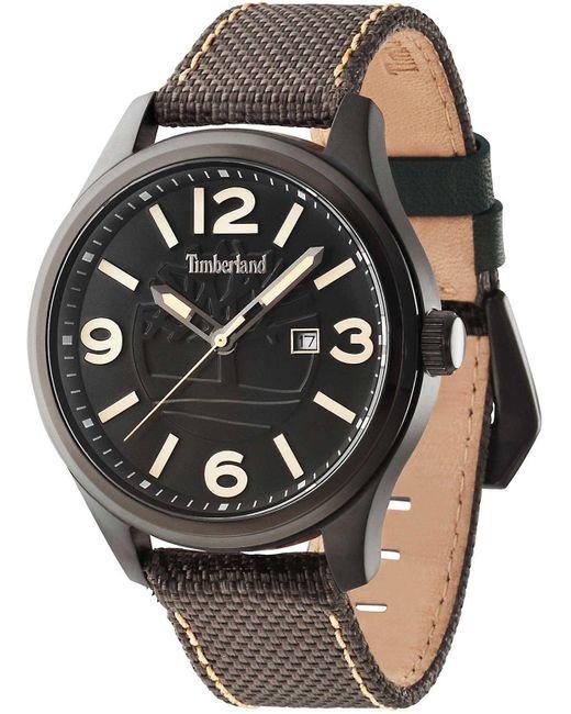 Moringa orologio Uomo Analogico Al quarzo con cinturino in Pelle di vitello 14476JSB-02 di Timberland in Brown da Uomo