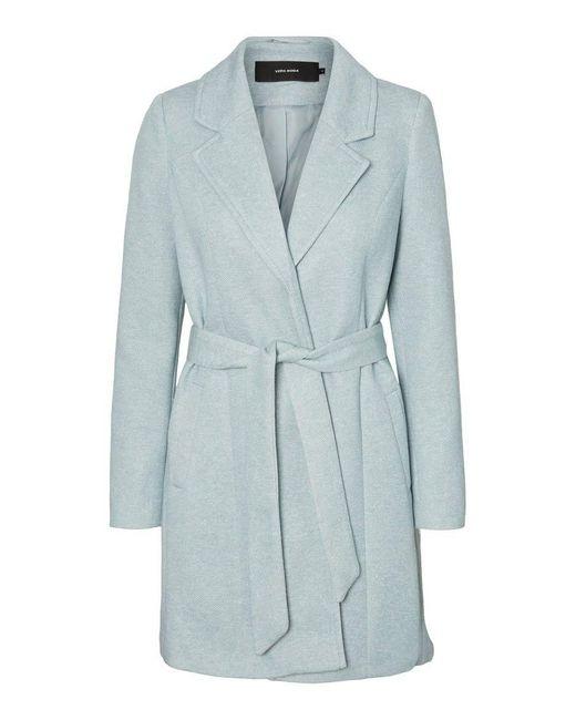 Vero Moda Gray Vmbrushedkatrine 3/4 Jacket Boos Wool Blend Coat