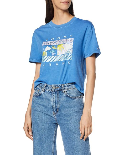 Tommy Hilfiger Blue Tjw Summer Surf Flag Tee T-shirt
