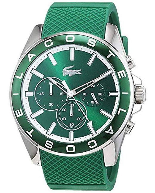848300907163 ... Lacoste - Green Reloj Cronógrafo para Hombre de Cuarzo con Correa en  Silicona 2010851 for Men ...